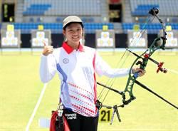 亞洲盃射箭賽女複合弓王律勻排名賽第一