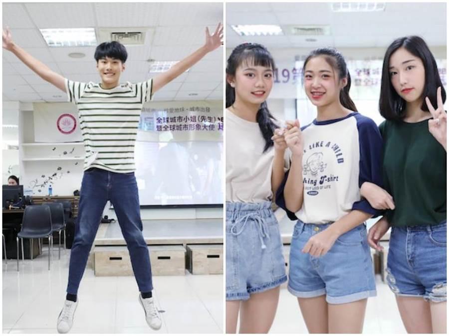 陳昱瑋(左圖)及參賽選手。