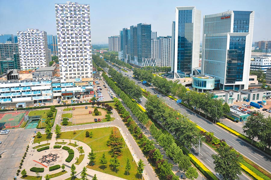 北京亦莊經濟技術開發區一角。(CFP)
