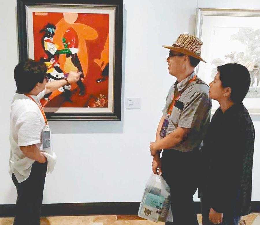 台灣小鎮美術館現正展出「2019兩岸書畫名家巡迴邀請展」。(台灣小鎮美術館提供)