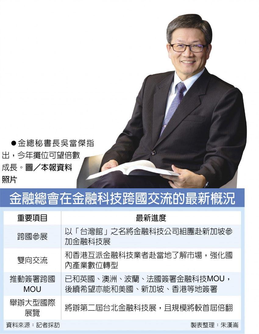 金總秘書長吳當傑指出,今年攤位可望倍數成長。圖/本報資料照片