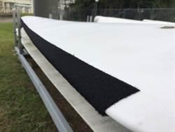 仿貓頭鷹羽毛 風機葉片貼絨布可減噪音
