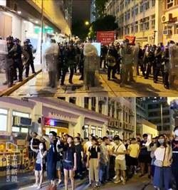港警闖港鐵站逮人 市民拖鞋上街圍警表強烈不滿