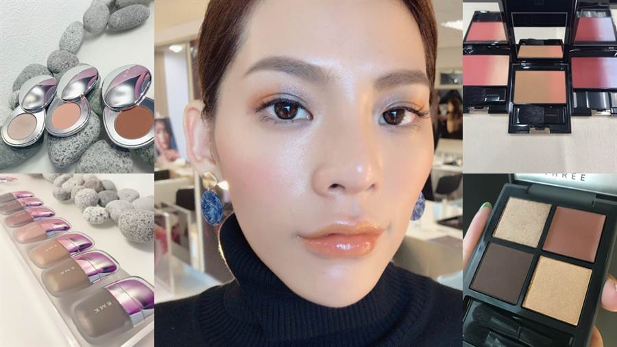 SUQQU、THREE、RMK都推出秋冬彩妝。(圖/邱映慈攝影)