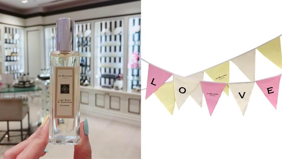 JO MALONE絕對是許多女孩的香水首選,本次七夕特別推出限定的告白香氛旗。(圖/邱映慈攝影、品牌提供)