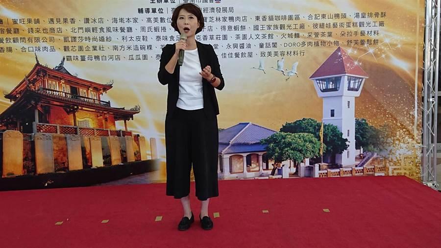 台南市2020年立委選舉第3選區民進黨推出現任立委陳亭妃,國民黨尚未推出強棒人選。(程炳璋攝)