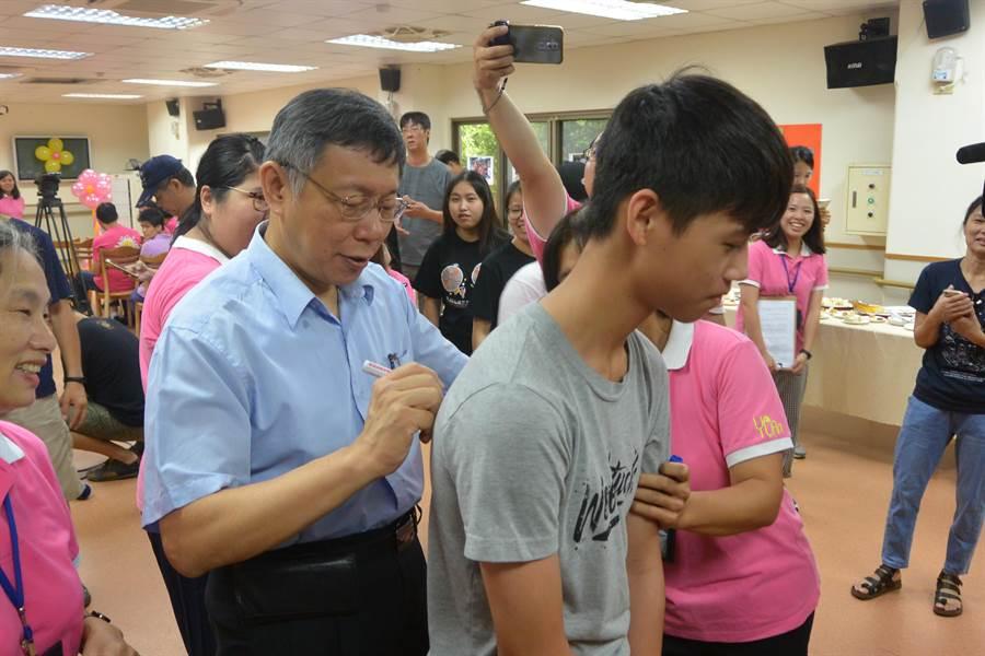 台北市長柯文哲今赴苗栗出席活動。(圖/巫靜婷 攝)