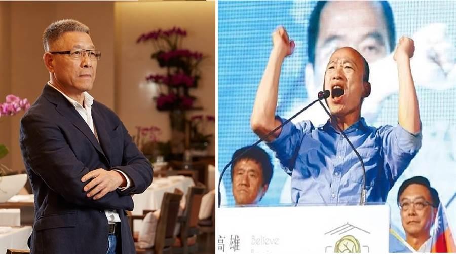 國民黨中常委、立委參選人蕭景田(左)、國民黨總統候選人韓國瑜(右)。(圖/合成圖,蕭景田臉書、本報資料照)