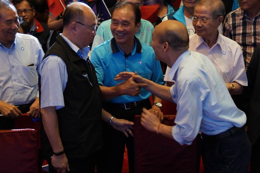 韓國瑜與桃園重要地方人士進行座談。(甘嘉雯攝)