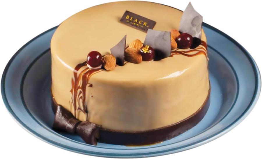 BAC Cake & Sweet今年推出的父親節蛋糕「啡常紳士」,是以BAC特製苦甜鬆軟的湯種蛋糕體,搭配散發咖啡香的拿鐵鮮奶油與酥脆巴芮脆片互相堆疊。圖/BAC