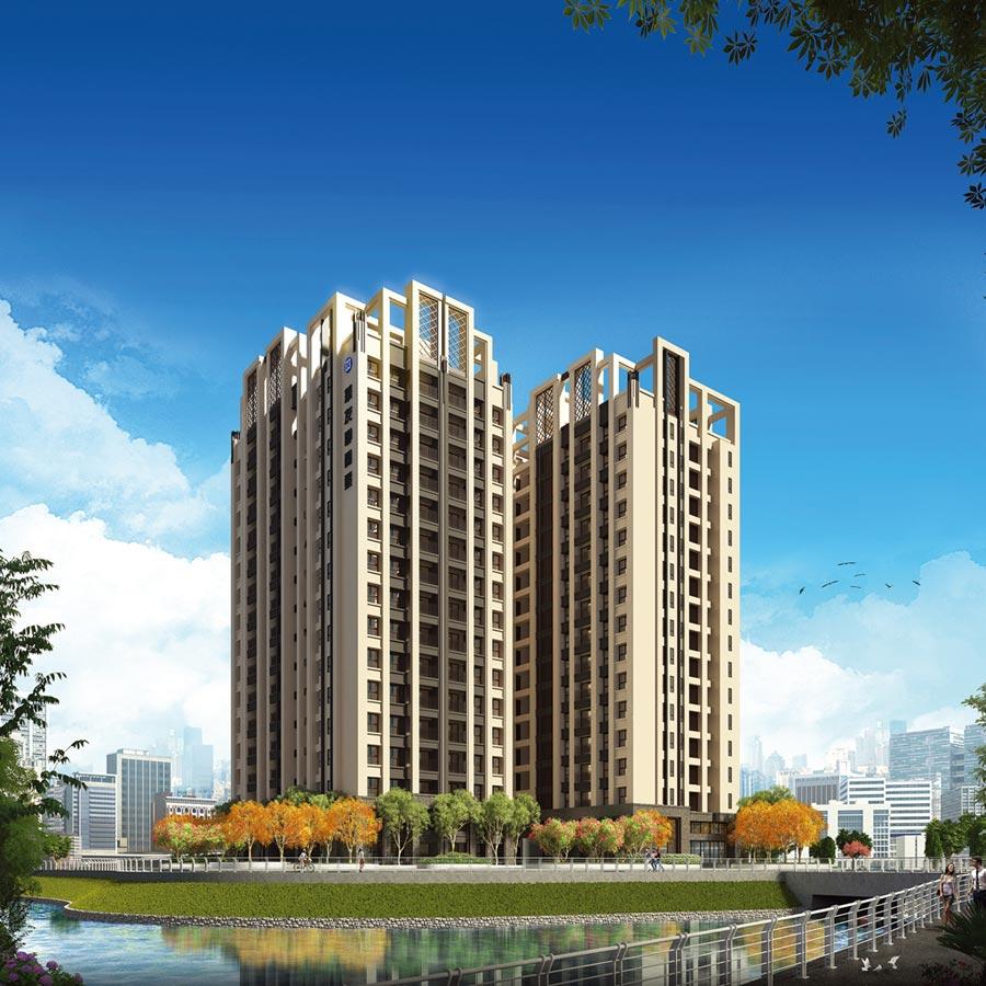 華友聯開發率先在84期重劃區,推出「秋紅谷」大樓住宅,以低總價鎖定首購族。圖/顏瑞田翻攝