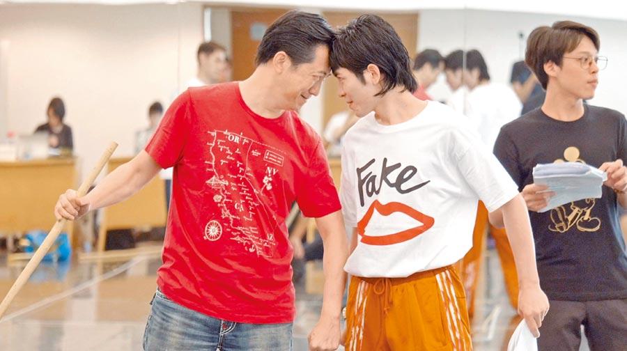 老蕭(右)與哈林近期密集彩排音樂劇。
