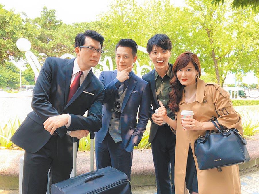 吳皓昇(左起)、林則希、馬俊麟、邱琦雯都是《大時代》主要演員。