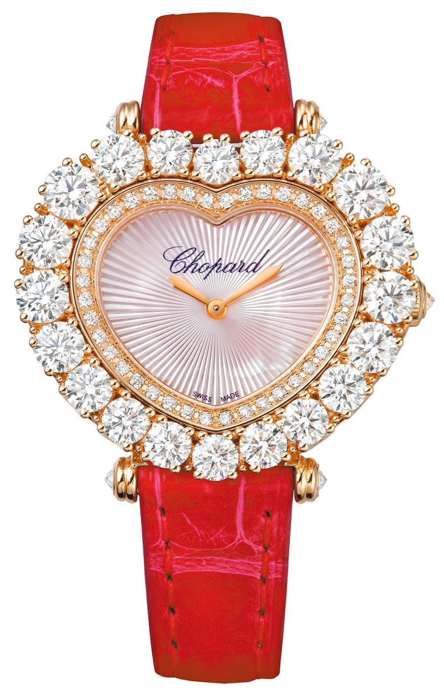 蕭邦L,HEURE DU DIAMANT愛心鑽表,208萬元。(CHOPARD提供)