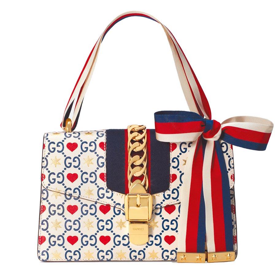 GUCCI Sylvie系列七夕情人節限定款小型肩背包,11萬1200元。(GUCCI提供)