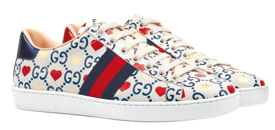 GUCCI Ace七夕情人節限定款運動鞋,3萬3400元。(GUCCI提供)
