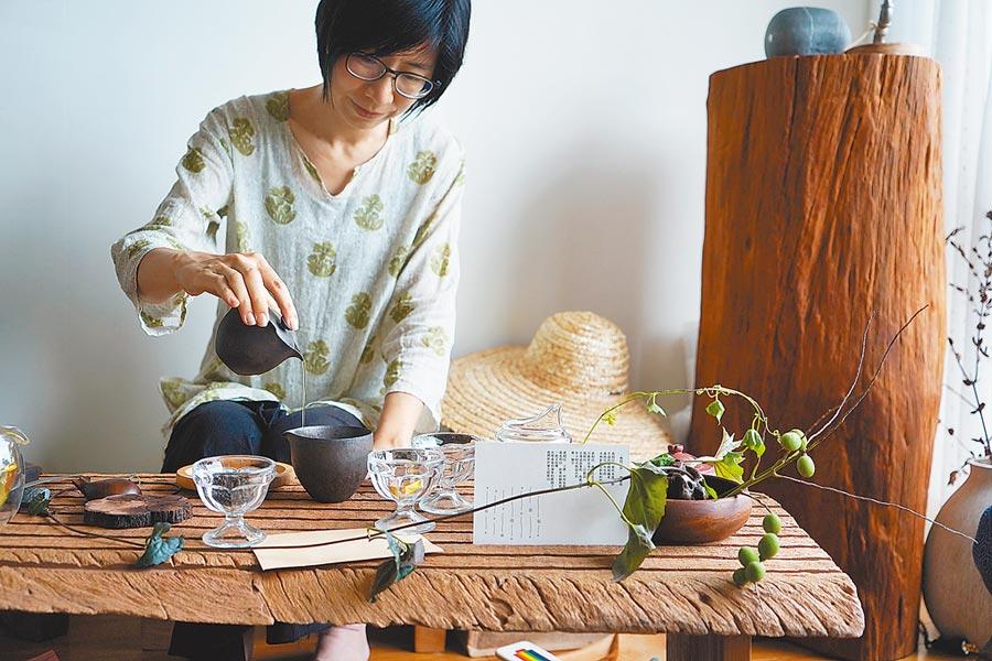 節氣茶席帶領人 黃筱蒨圖片提供緩慢民宿、郭柏均、彭柏璋、李念念