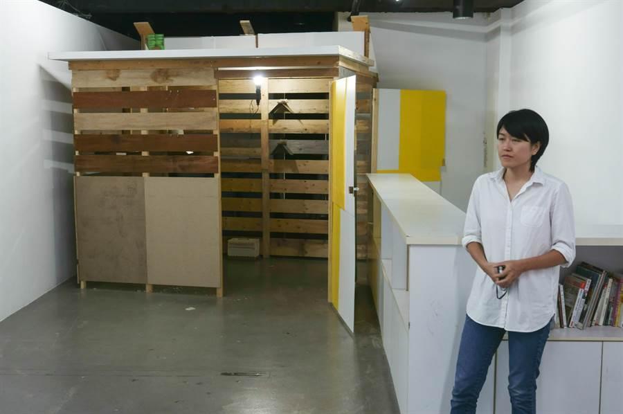 展場還特別製作一個鴿舍配合展出。