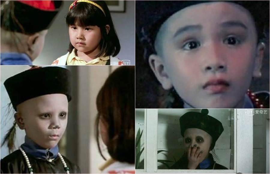 90年代「林正英」殭屍系列電影的小童星「小殭屍」逗趣模樣受到觀眾歡迎,但他卻消失演藝圈,數度瘋傳他中邪出意外,但真相卻神展開。(合成圖/翻攝自微博)