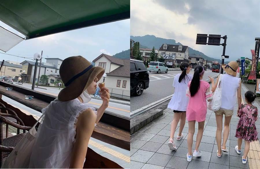 馬伊琍近日帶女兒到日本。(圖/翻攝自微博)