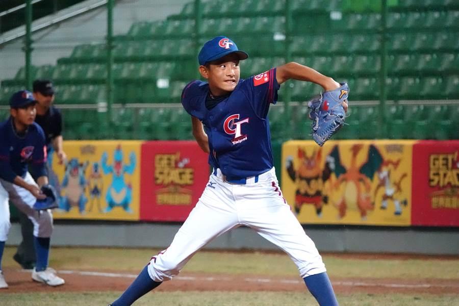 U12少棒賽陳楷升獲選為全明星隊的最佳先發投手,並拿下最有價值球員。(中央社資料照)