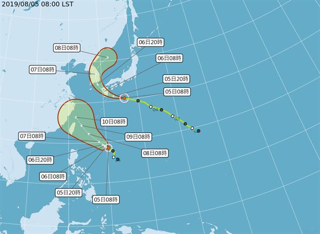 利奇馬將升格中颱 周三開始影響台灣
