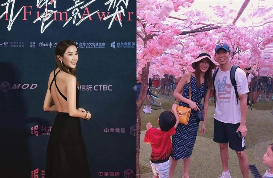 隋棠和老公Tony婚後陸續生下3個寶貝兒女。(圖/翻攝自臉書)