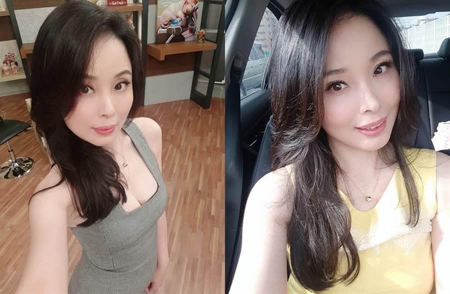 呂文婉離婚後,獨自撫養女兒。(圖/翻攝自臉書)