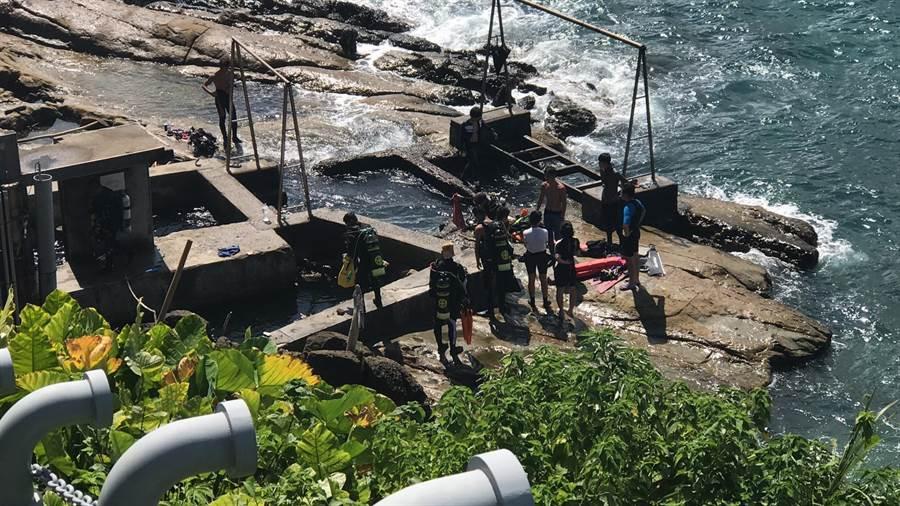 新北洪姓夫妻至基隆潮境海灣潛水,卻發生丈夫溺水意外。(民眾提供)