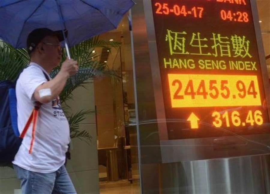 受中美貿易戰與「三罷」影響,香港股市5日收盤重挫超過七百多點。(圖/中時資料照)