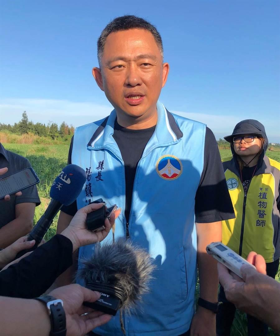 楊鎮浯縣長表示,有關「小三通」將自9月1日起全面停航,已證實只是「誤傳」。(李金生攝)