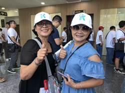 台灣民眾黨辦創黨大會 高雄柯粉包車北上力挺