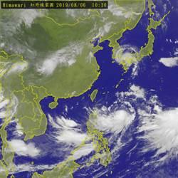 利奇馬颱風雲系裂成兩大塊 恐登陸這3地