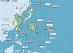 三颱共舞!利奇馬逼近 第10號颱風「柯羅莎」生成