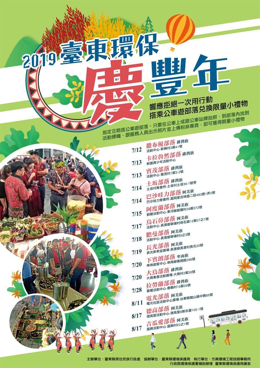 2019台東環保慶豐年海報(圖/擷取自低碳愛台東臉書粉絲專頁)