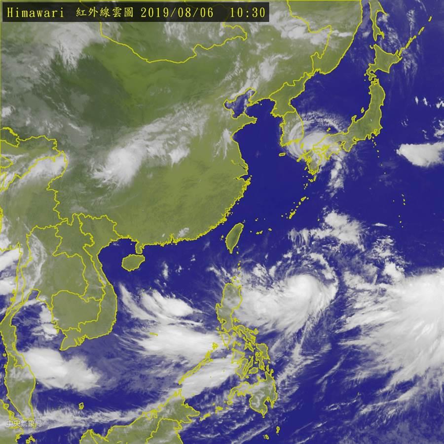 圖為衛星雲圖。(氣象局)