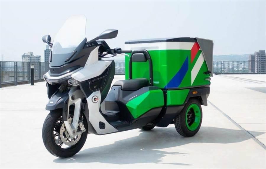 圖為中華郵政電動三輪機車之示意。(交通部提供)