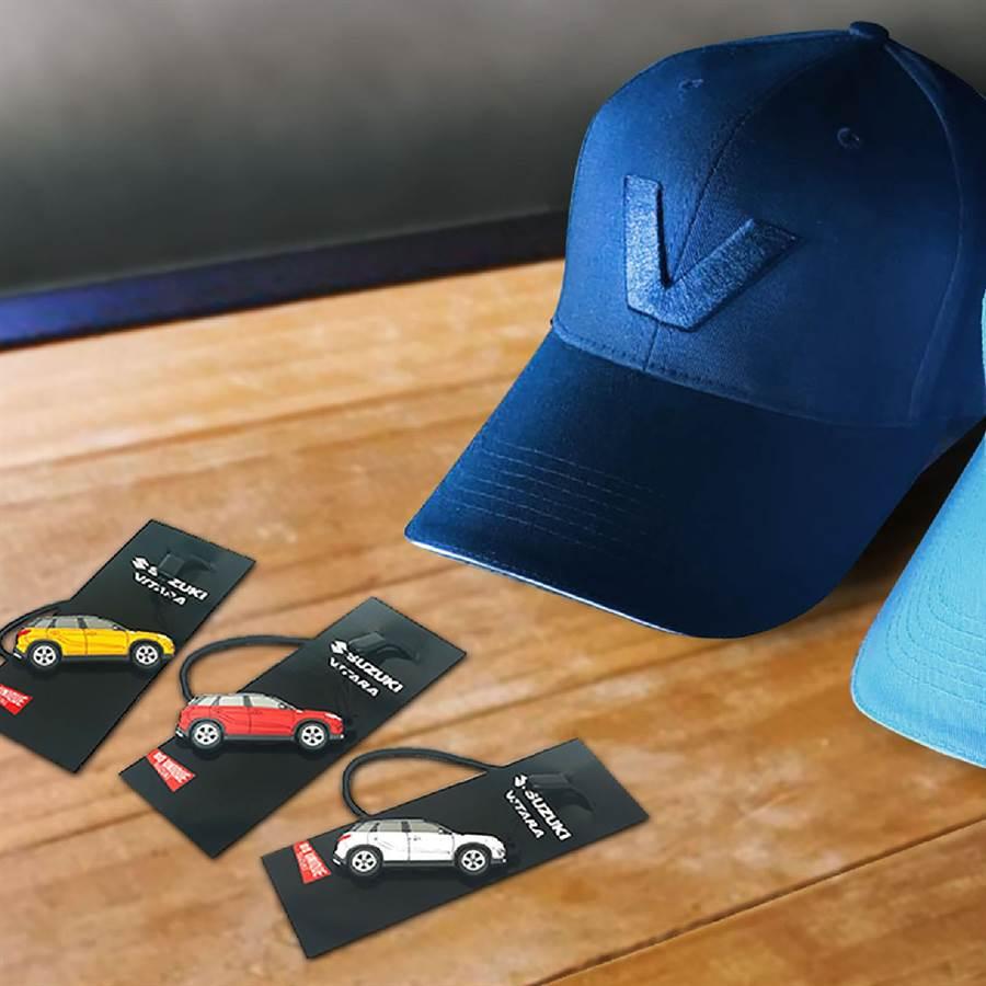 全新SUZUKI VITARA已進駐展間,民眾賞車即可獲贈鑰匙圈,試駕再送棒球帽。(TAIWAN SUZUKI提供)