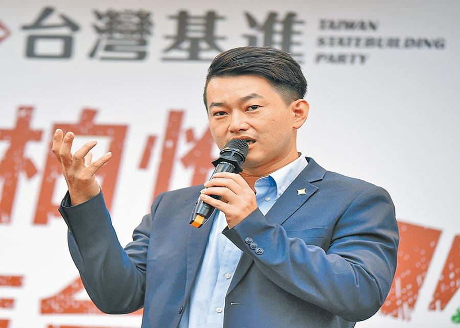 民進黨推出台灣基進發言人陳柏惟,迎戰國民黨尋求連任的立委顏寬恒。(陳世宗翻攝)