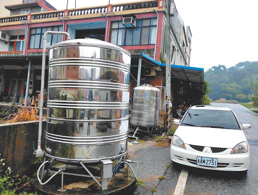 金門島東部地區為居民提供精加工飲用水的儲水塔。(中新社資料照片)