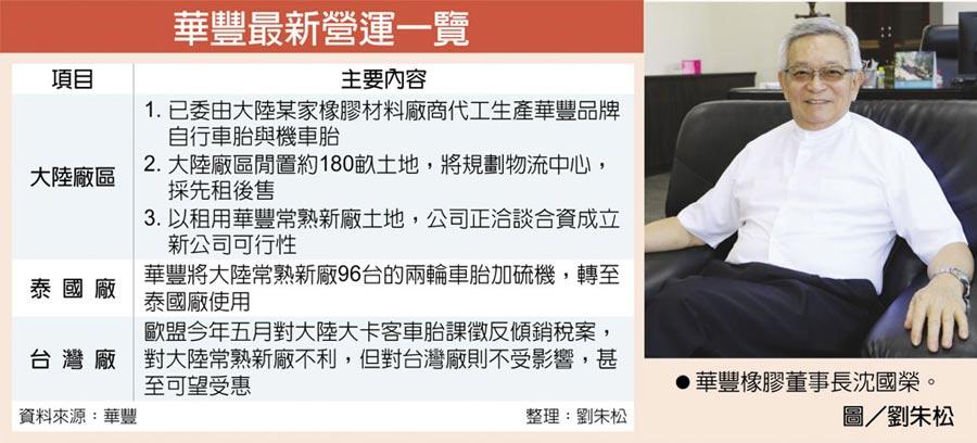 華豐最新營運一覽  ●華豐橡膠董事長沈國榮。圖/劉朱松
