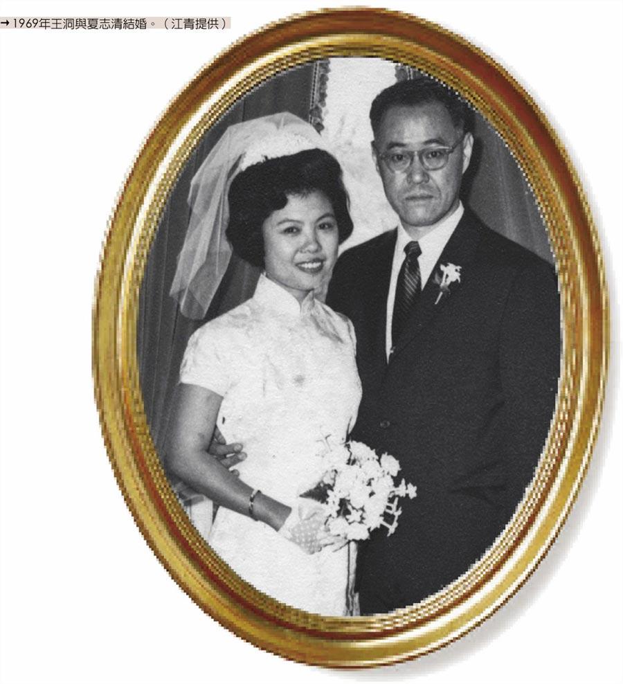 1969年王洞與夏志清結婚。(江青提供)