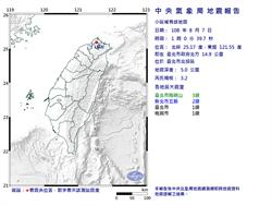 罕見!台北市北投凌晨1時3.2地震 深度僅5公里