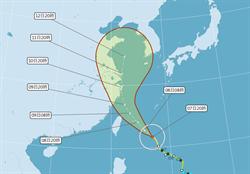 利奇馬不排除變強颱! 氣象局:周四3地區先防豪雨