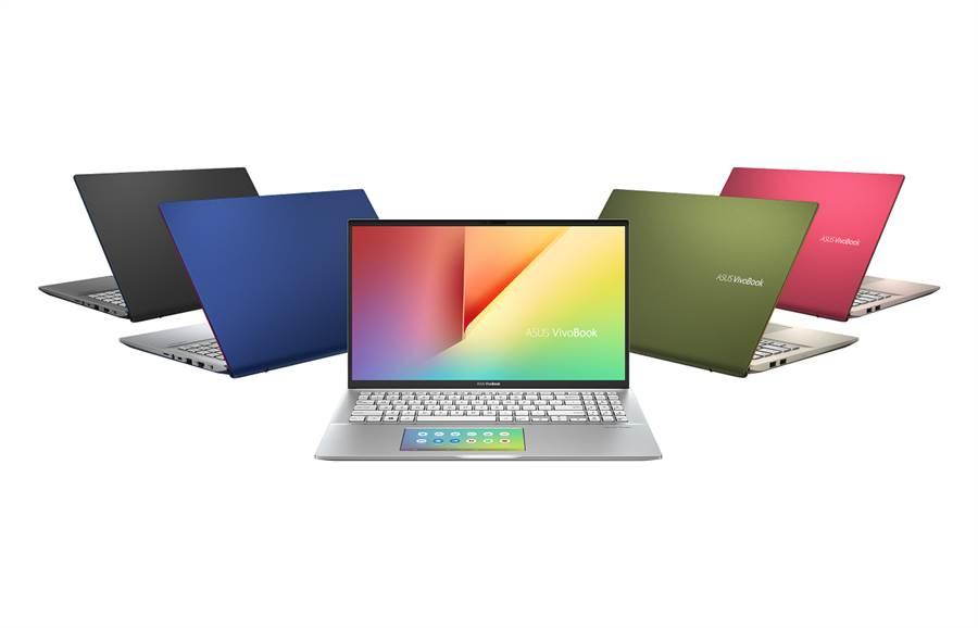 ASUS VivoBook S系列延推出銀定了、超能綠、不怕黑、藍不倒與狠想紅等5款配色供消費者選擇。(華碩提供)