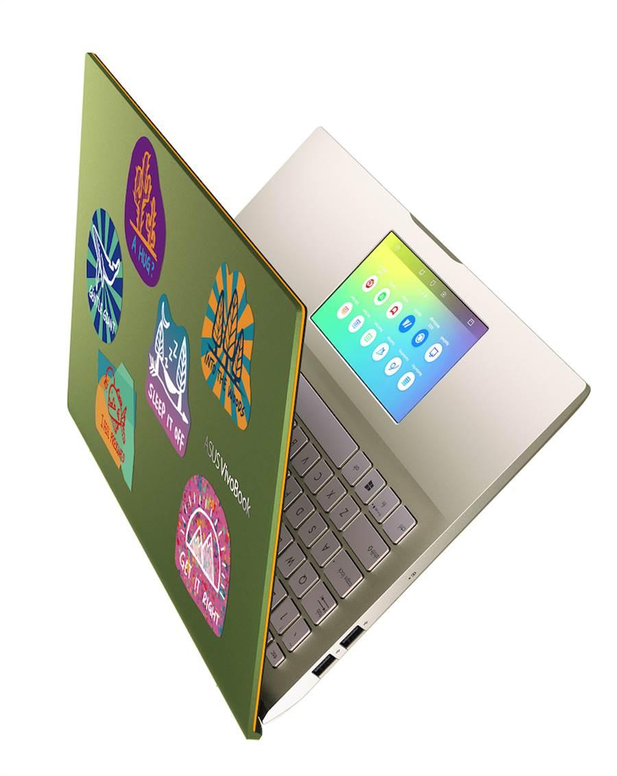 ASU VivoBook S系列隨貨搭贈潮流塗鴉造型貼紙,為筆電注入個性化街頭風格,貼近年輕世代喜愛用貼紙裝飾筆電的風潮。(華碩提供)