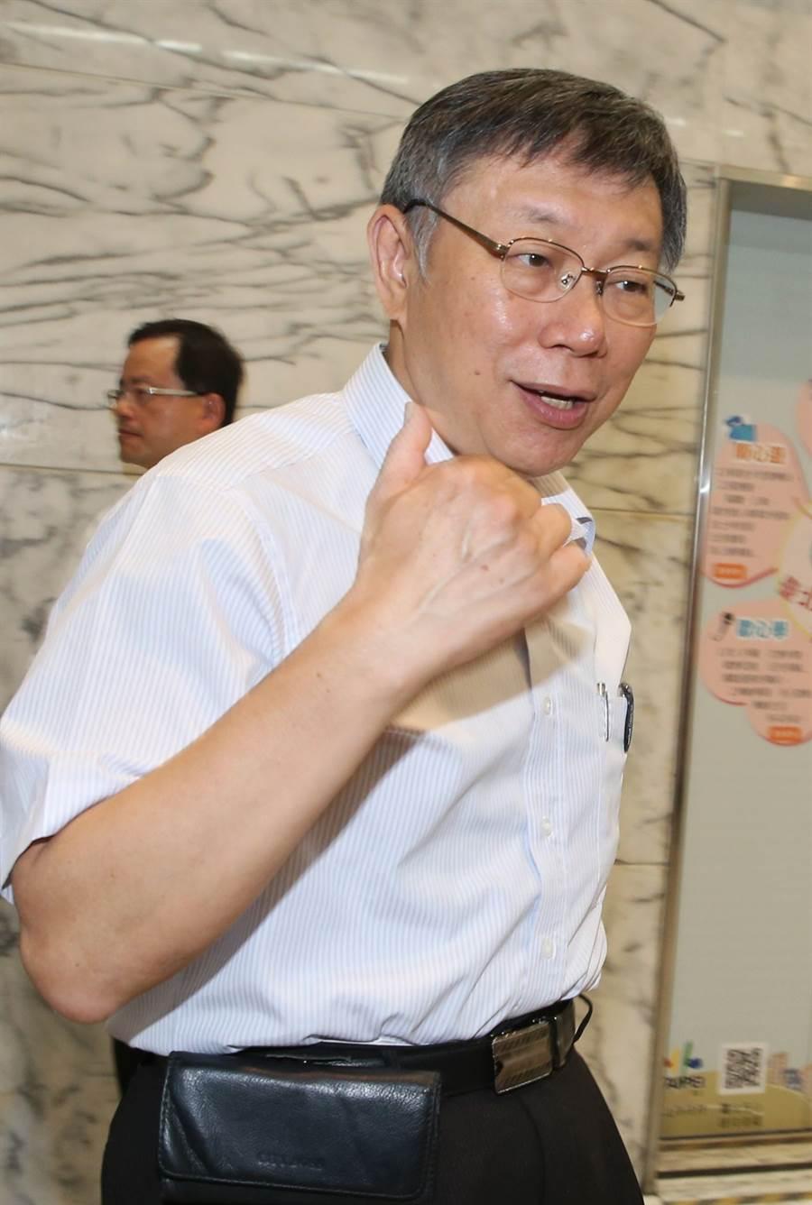 台北市長柯文哲。(王英豪攝)