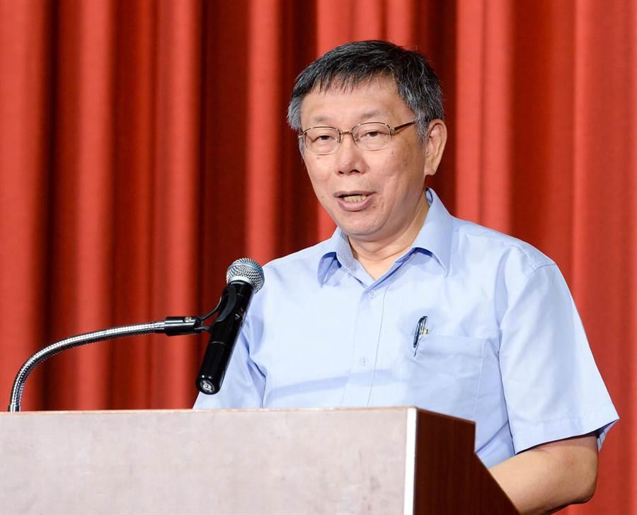 台灣民眾黨創黨大會6日舉行,台北市長柯文哲出席並宣佈擔任黨主席。(資料照,王德為攝)