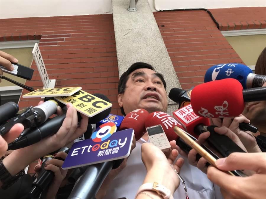 台北市副市長鄧家基今天參加前立法院長王金平舉辦的公聽會。(趙婉淳攝)