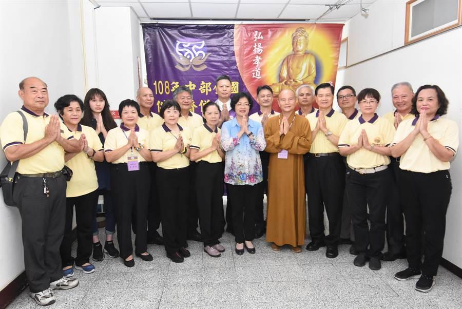 「108年中部全國供佛齋僧大會」將於8月11日在彰化縣立體育館莊嚴盛大辦理。(吳敏菁攝)
